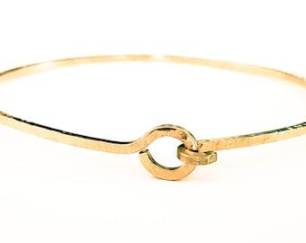 Knotted Bangle Bracelet, Gold Stacking Bangle, Gold Bracelets, Bangle Bracelet, Textured Bracelet, Handmade Bracelets, Venexia Jewelry