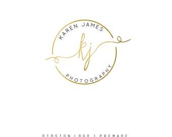 Gold Logo Design  Gold watermark Photography Logo  Premade Logo   Graphics Signature  Fresh Logo Design  Premade round logo