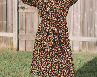 Vintage 70s Dress, 70s Dress, Vintage Dress, Floral Dress, Vintage Floral Dress, Vtg Dress, Vtg 70s Dress, Belted Dress