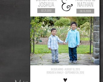 Sibling Adoption Announcement (Set of 50+) - Ampersand