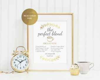 The Perfect Blend Wedding Anniversary Print - JW Gift - jw.org - Jehovah's Witness - JW Pioneer Gift - Custom Wedding Coffee Gift