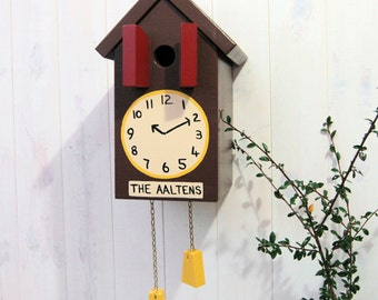 Personalised Bird House Cuckoo Clock Bird Box Garden Gift Unique Gift