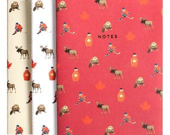 Traveler Journal Canada Notebook Journal Diary Set