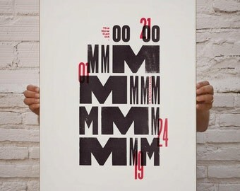 The New Call #04. Art & handmade letterpress. Typography.