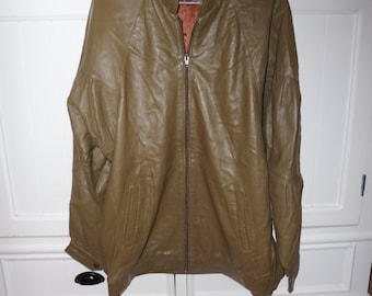 Vintage leather jacket size L (42) - 80s