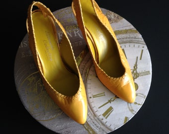Sunshine Yellow Vintage Leather Shoes.