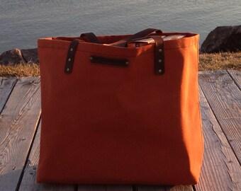 Canvas Tote, Canvas Shopping Bag, Sunbrella Canvas Bag, Grocery Bag, Beach Bag