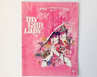 My Fair Lady Film Programme, Vintage Original Movie Souvenir Brochure, Warner Brothers, 1964, 00786