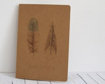 Notebook kraft A5 litte bird