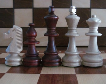 Brand New Weighted staunton no 6 wooden chess pieces