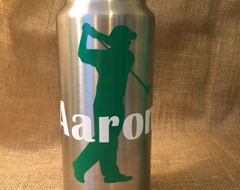 Golfer Decal with Name