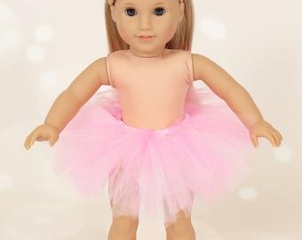 "18"" American Girl Doll Pink Tutu & Headbands - American Girl Tutu - American Girl Clothes"