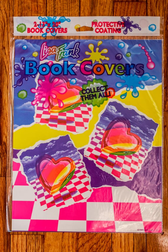 Vintage Book Cover Wrapping Paper : Items similar to vintage s lisa frank book covers