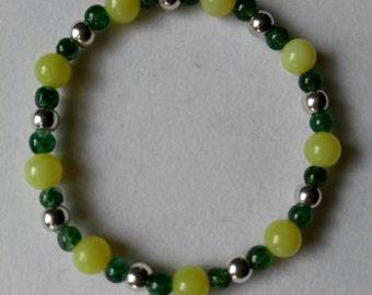 Jade and Green Aventurine Bracelet