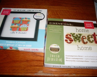 Two Dimensions Needle Punch Kits  Home Sweet Home  and Life Is Sweet