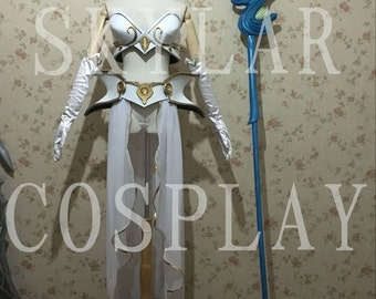 LOL League of Legends cosplay Classic skin Janna costume weapon