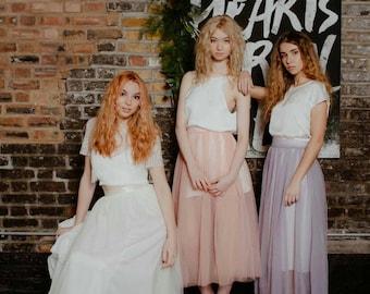 Tulle bridesmaid or wedding skirt