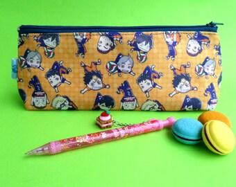 Cute Haikyuu!! Pencil Case Zipper Pouch Bag Pen Box School Anime Tobio Kageyama Shōyō Hinata 2