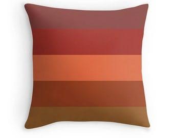 Brown Toss Pillow, Brown Pillow, Brown Pillow Cover, Brown Throw Pillow, Orange Brown Pillow, Red Brown Pillow Case, Brown Pillow Case