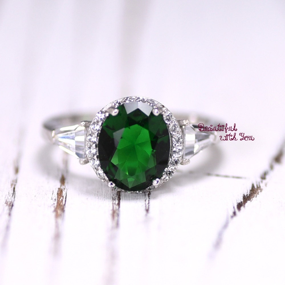 Emerald Cz Promise Ring Womens Rings Womens By