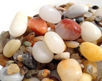 200 Fishbowl Stones, Fishtank Stones, Aquarium Stones, Zen Garden Stones, Meditation Stones, Seaquarium Stones, Aquatic Stones,