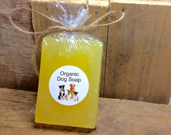 Organic dog soap, great lather shampoo, orange scented, eco friendly dog products anti bacterial soap, grooming soap for cleaning your dog