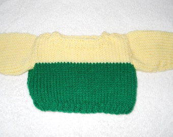 Handmade knitted sweater for 18 inch doll
