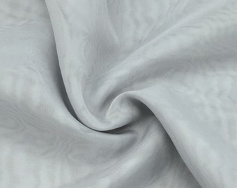 "Silver Sheer Voile Fabric 118"" Wide Curtain Drapery and Apparel per yard 100% polyester"