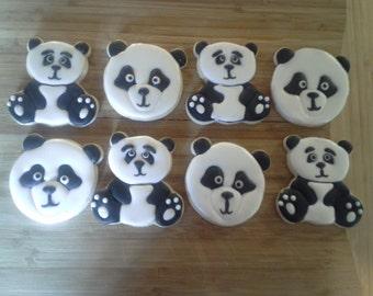 Panda Sugar Cookies