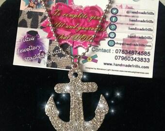 Anchor  Necklace, Sailor Necklace, Nautical Necklace