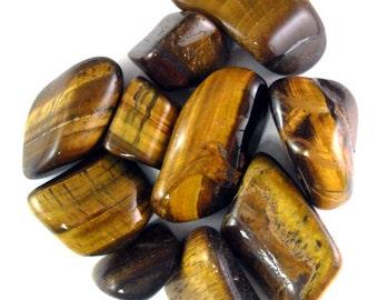 Gold Tigers Eye Tumbled Gemstones - 1/2 Lb. Bulk