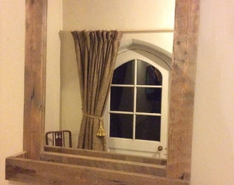 Rustic Bathroom Mirror made from reclaimed pallet wood XL
