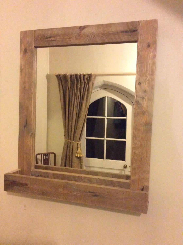 Innovative Reclaimed Wood Mirrors Size 28 X 34  Rustic Bathroom Mirror Set