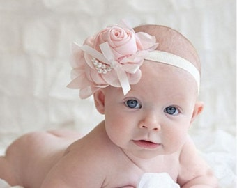 Pink Rosette Headband