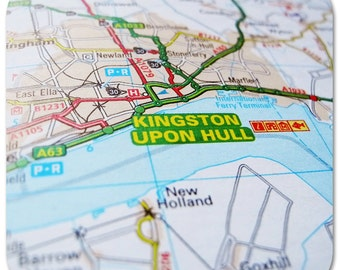 Hull Map Coasters