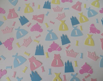 Disney Princess First Birthday Confetti - Set of 180 - Handmade - 1st Birthday - Party Decor - Cinderella - Sleeping Beauty - Belle - Castle
