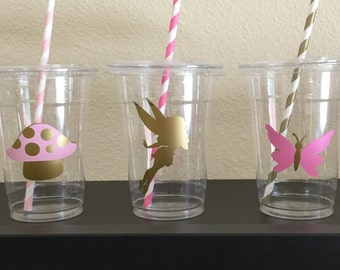 Fairy woodland party cups