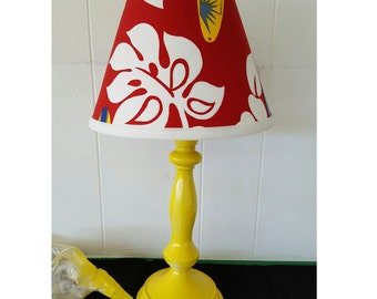 Hawaiian Lamp Base and Shade