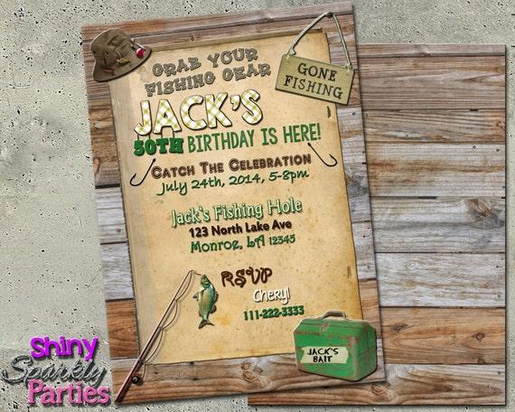 Fishing birthday invitation fishing invitations fishing for Fishing first birthday