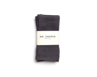 100% Linen Napkin in Charcoal (set of four)