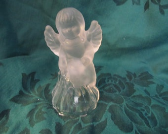 Vintage Angel Glass Bell