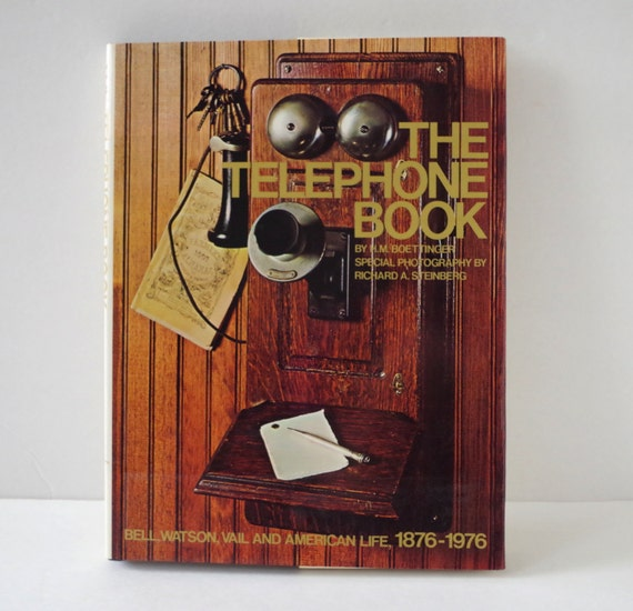Best Vintage Coffee Table Books: The Telephone Book A Vintage Oversized Coffee Table Book