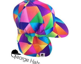 Sun & Swim Hat TRIANGLES COLOR / Baby Sun Hat / Toddler Sun Hat / Kids Swim Hat
