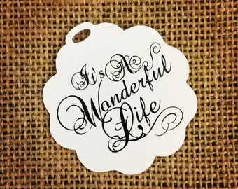 Favor or Gift Tags - It's A Wonderful Life Qty: 24 Tags