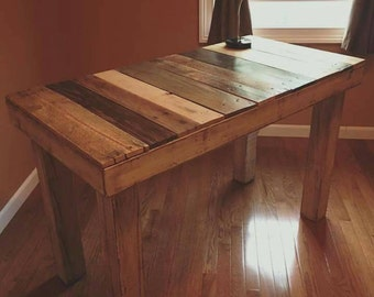 Rustic reclaimed wood desk!