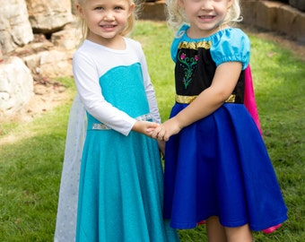 anna and elsa dresses costumes frozen birthday outfit halloween costume princess anna and queen - Halloween Anna Costume