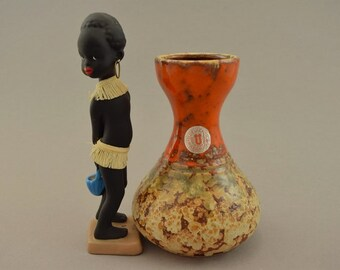 Vintage vase / U-Keramik (Uebelacker) / 568 14   West Germany   WGP   60s