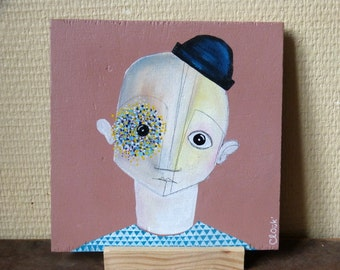Louison / / painting on wood / / original