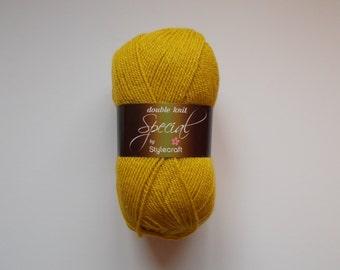 Stylecraft Special DK  yarn, 100g, MUSTARD, dark yellow