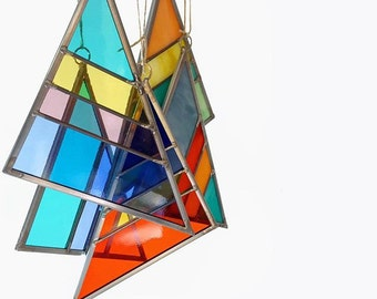 Small Stained Glass Triangles - Debbie Bean